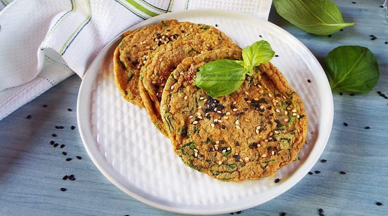 Omleta cu ceapa verde si seminte