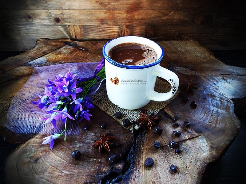 ciocolata calda cu ghimbir, ardei iute si portocale