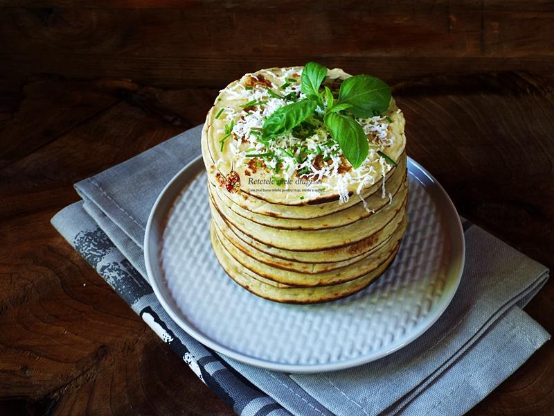 pancakes cu cartofi si branza