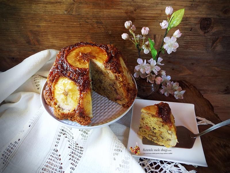 tort cu mere caramelizate si nuci 2