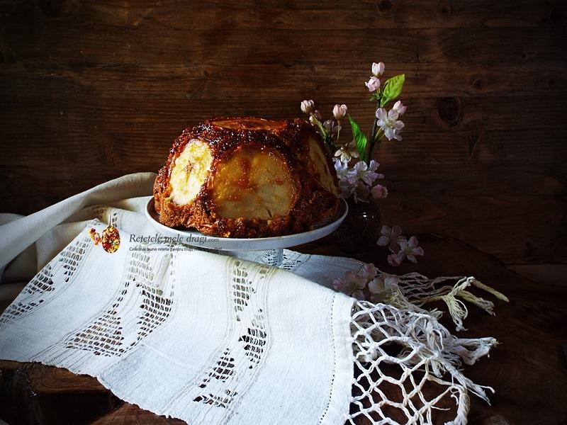 tort cu mere caramelizate si nuci