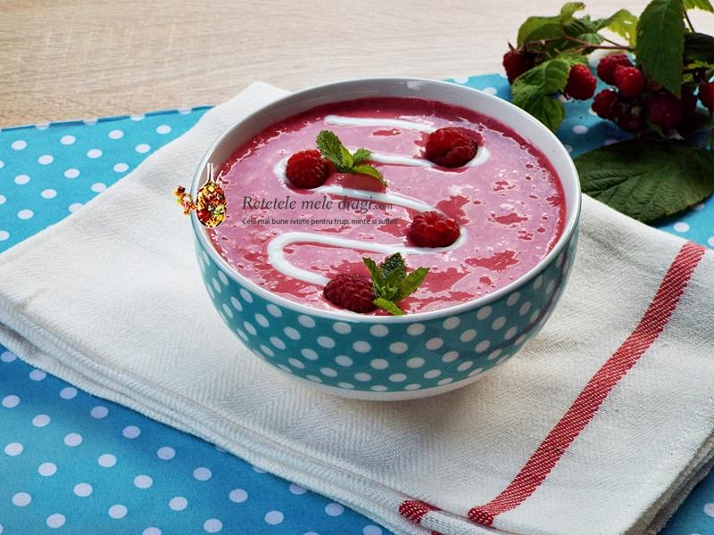 supa rece de zmeura (capsuni, visine, afine, mure, piersici, caise) 1