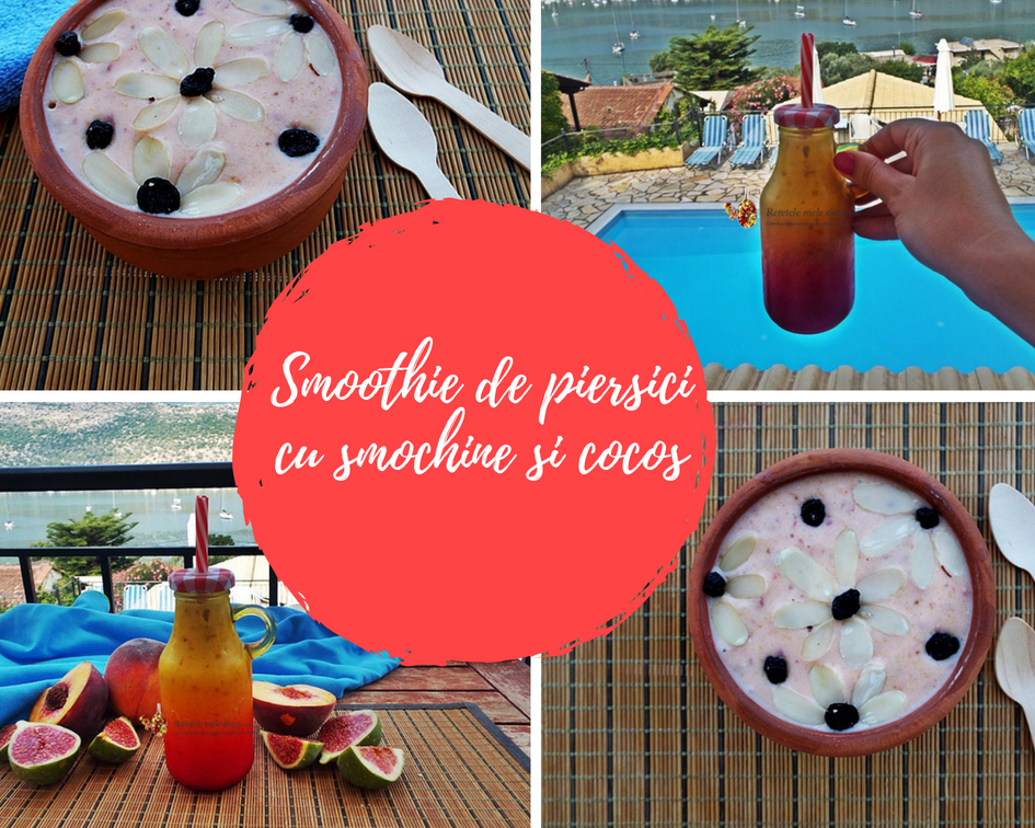 Smoothie de piersici cu smochine si cocos 0