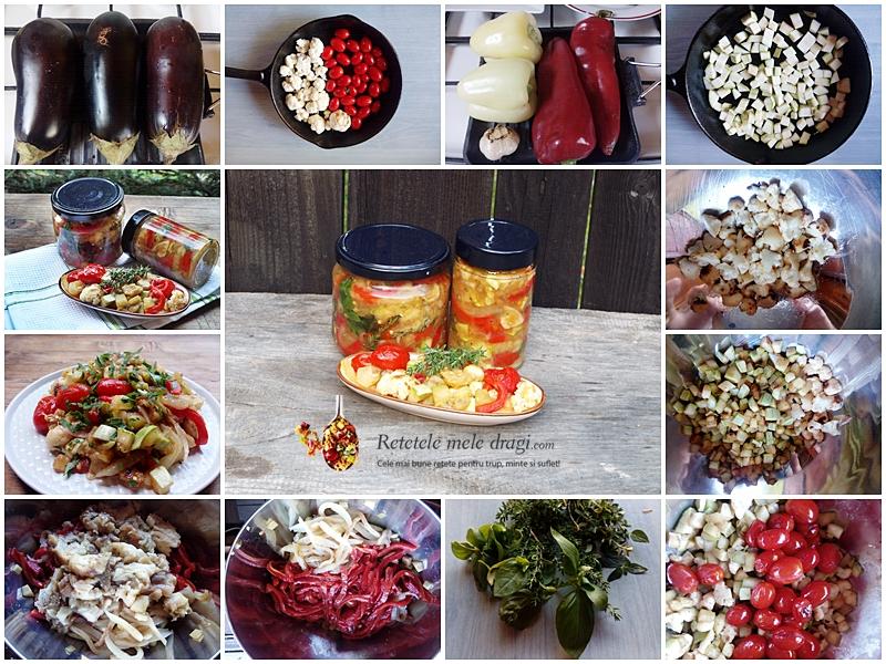 Salata de legume coapte la borcan pentru iarna 1