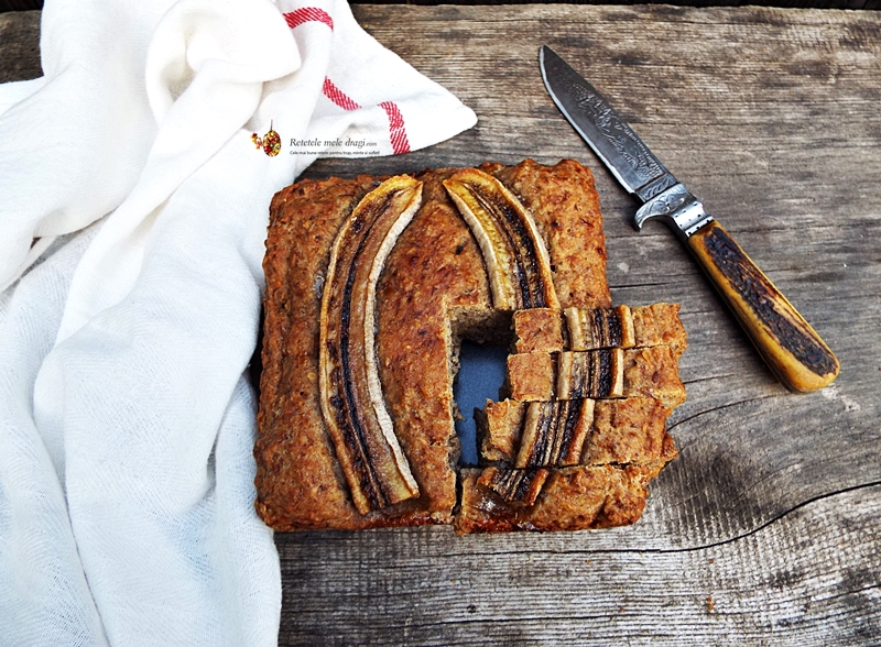 banana bread de post si fara zahar