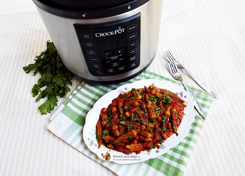 Bame cu naut gatite la Multicooker Crock-Pot Express 1