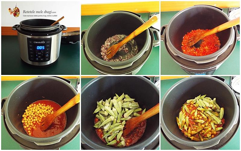 Bame cu naut gatite la Multicooker Crock-Pot Express preparare 2