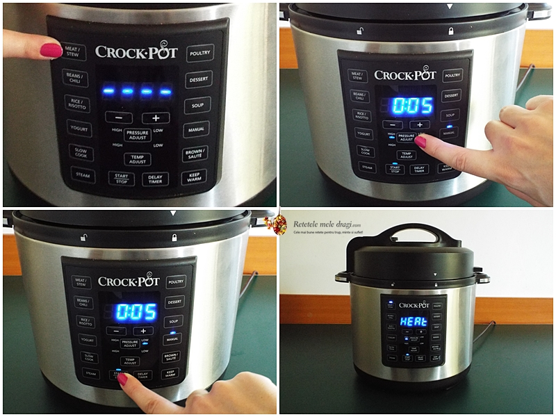 Bame cu naut gatite la Multicooker Crock-Pot Express preparare 3