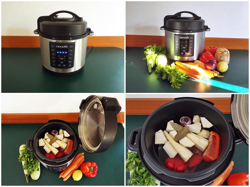 Ciorba cu perisoare de dovlecei a la grec gatita la Multicooker Crock-Pot Express preparare 1