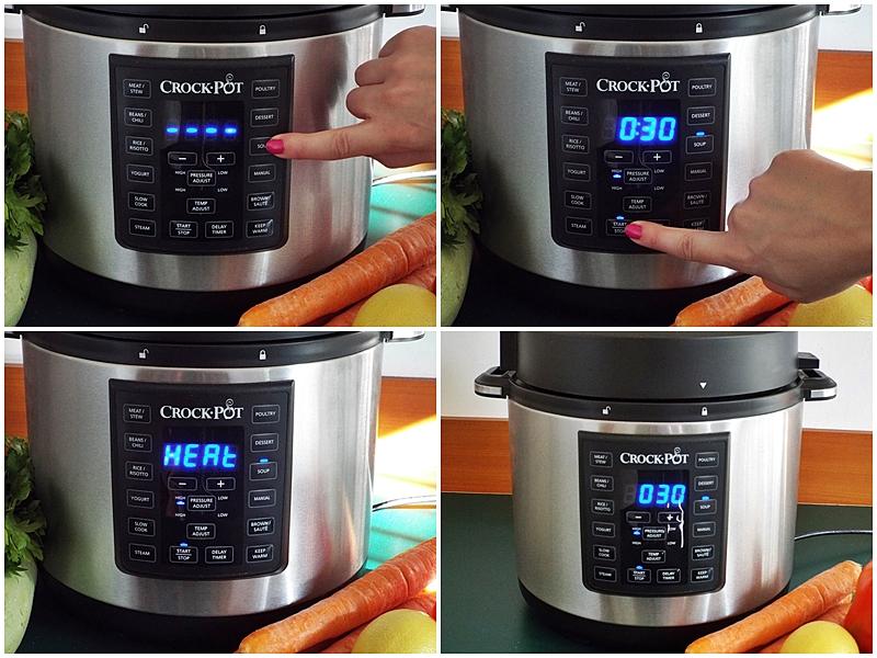 Ciorba cu perisoare de dovlecei a la grec gatita la Multicooker Crock-Pot Express preparare 2