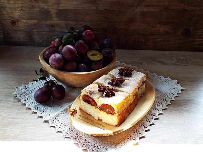 Prajitura turnata cu prune si scortisoara