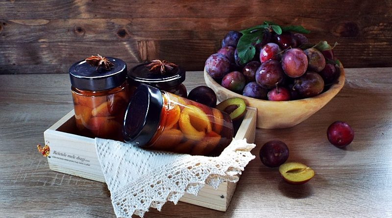 compot de prune aromat pentru iarna