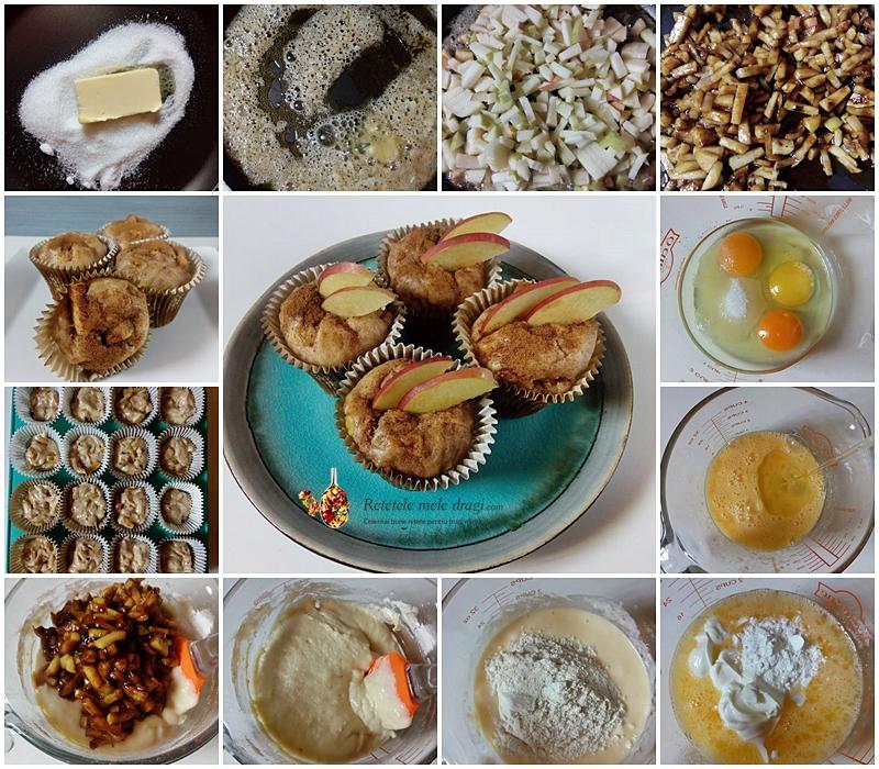 muffins cu mere caramelizate si scortisoara 1