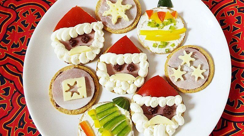 Aperitive festive de Craciun cu crackers 00