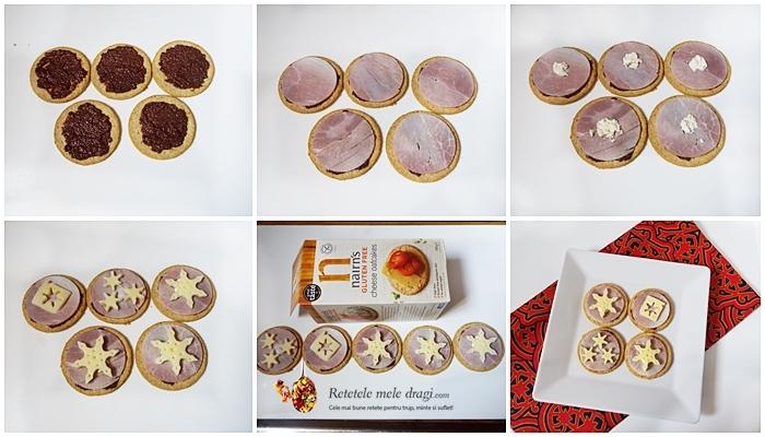 Aperitive festive de Craciun cu crackers 1
