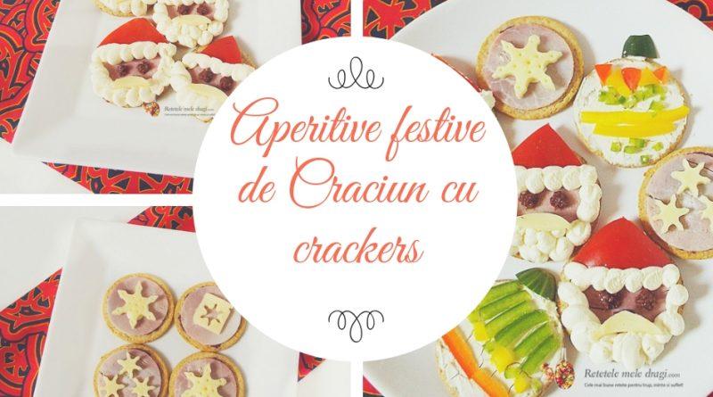 Aperitive festive de Craciun cu crackers colaj