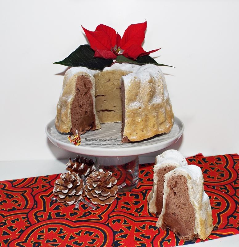 Chec cu vanilie si ciocolata in crusta de biscuite cu unt 1