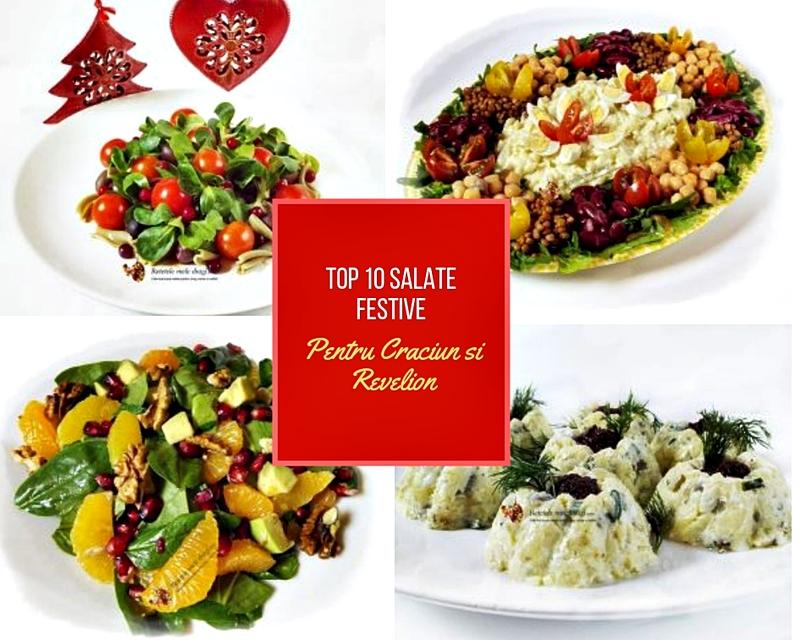 Top 10 retete de salate festive pentru Craciun si Revelion