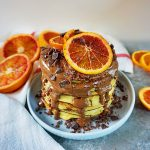 pancakes cu urda si portocale rosii 1