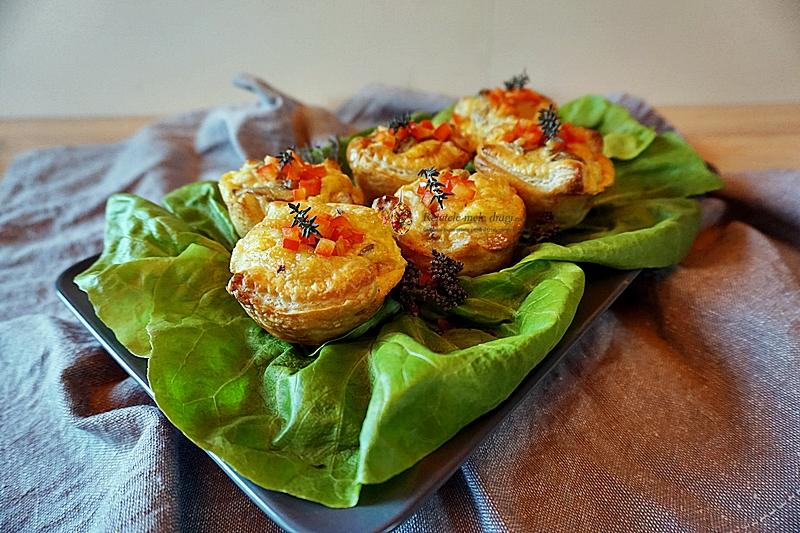 quiche cu ciuperci si cascaval in crusta de foietaj 1