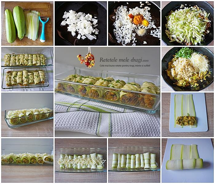 Rulouri din dovlecei cu quinoa preparare