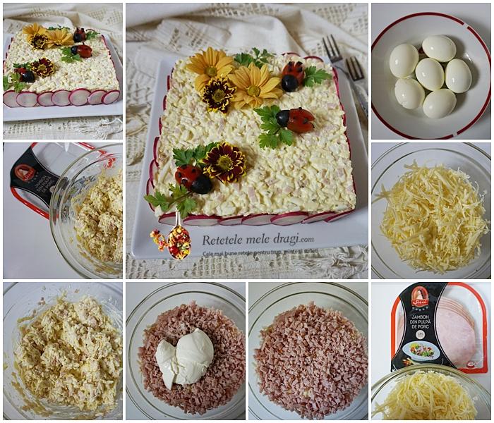 Salata de oua cu sunca si cascaval Blog Colaj