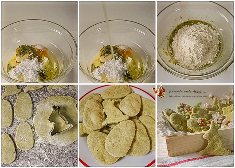 Biscuiti fragezi cu lamaie si matcha colaj