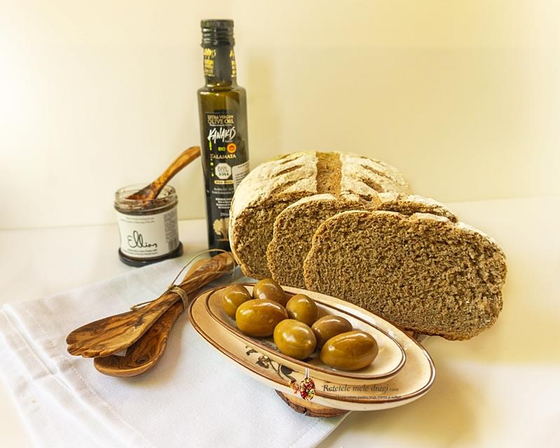 Paine mediteraneana cu făină integrală 1