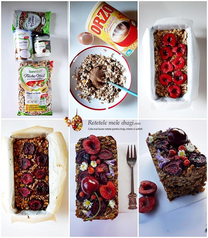 Terci de ovaz cu fructe la cuptor preparare