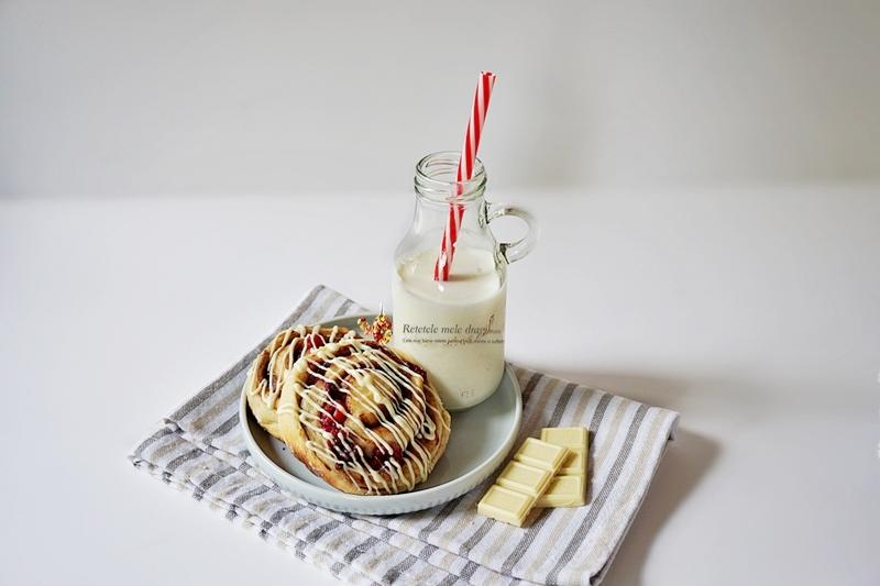 Melci cu zmeură și ciocolată albă