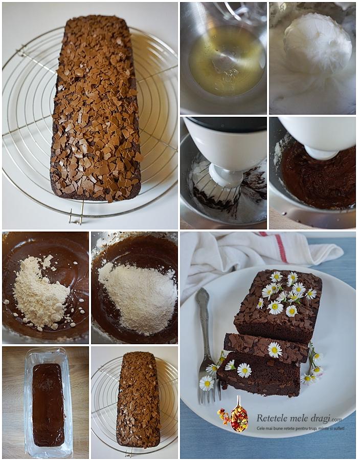 Prajitura cu albusuri si ciocolata neagra colaj preparare