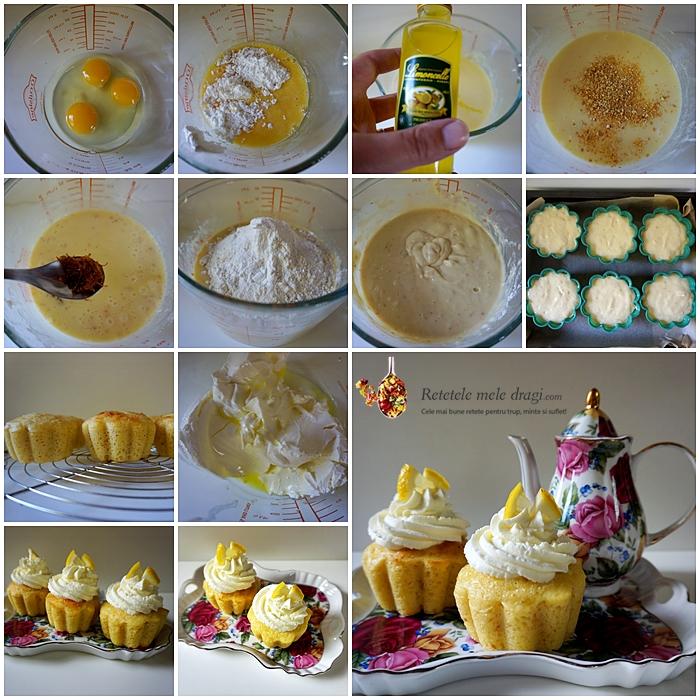 Cupcakes cu limoncello preparare