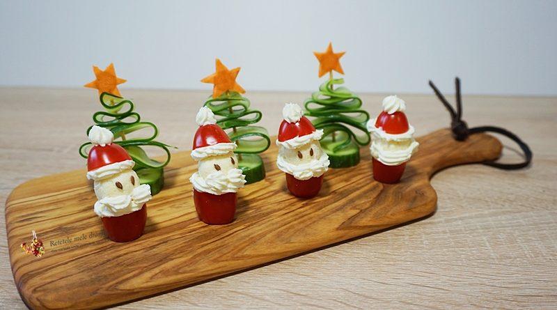 Platou cu aperitive fetsive de Craciun si Revelion