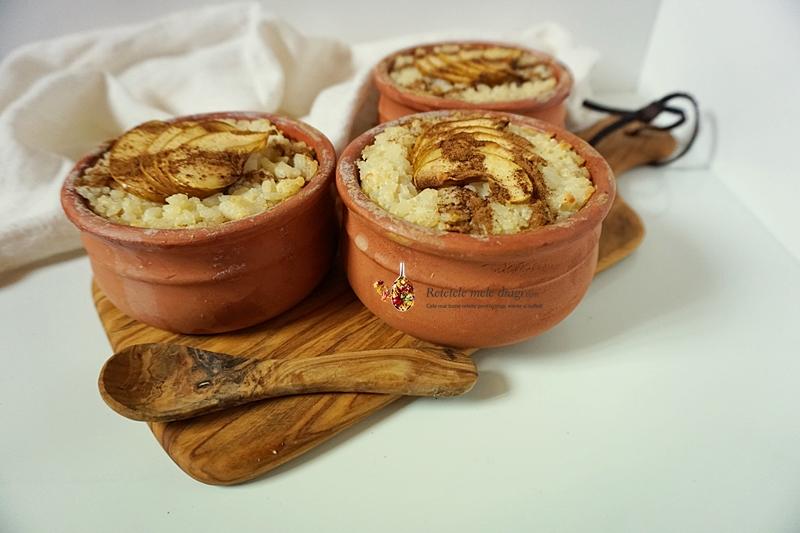 Budinca de orez cu mere si scortisoara la cuptor 2