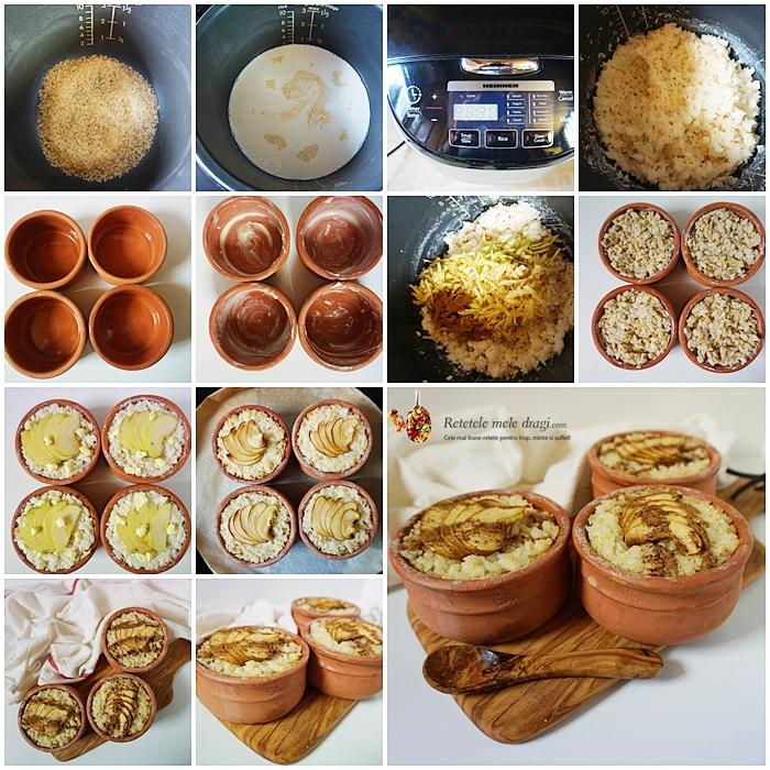 Budinca de orez cu mere si scortisoara la cuptor