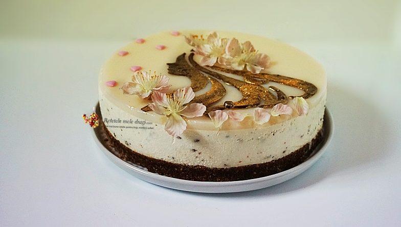 Cheesecake fara coacere Straciatella cu cocos 0