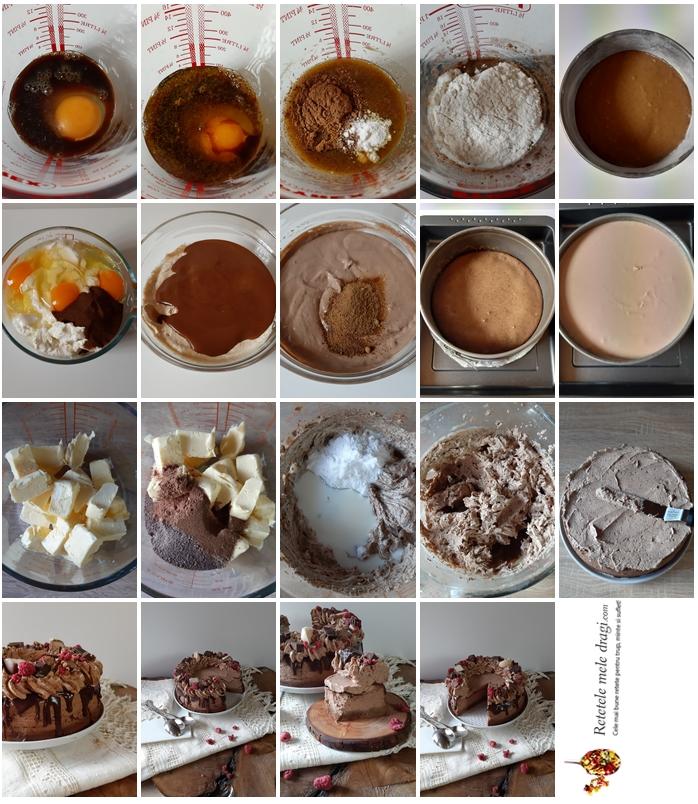 cheesecake cu ciocolata si cafea preparare