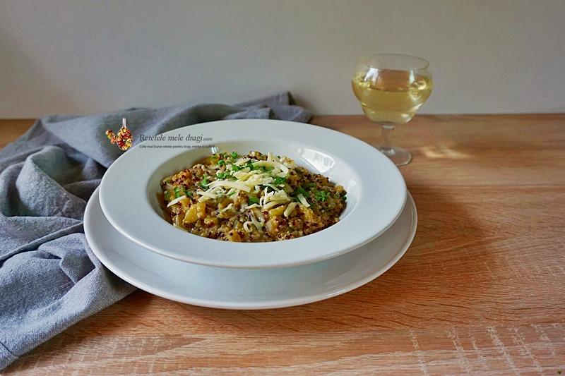 risotto cu quinoa si dovlecel 0
