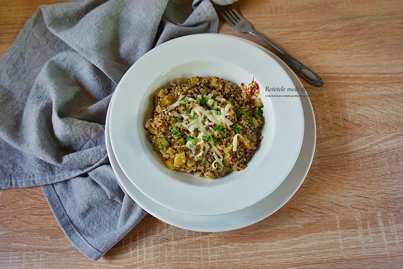 risotto cu quinoa si dovlecel 3