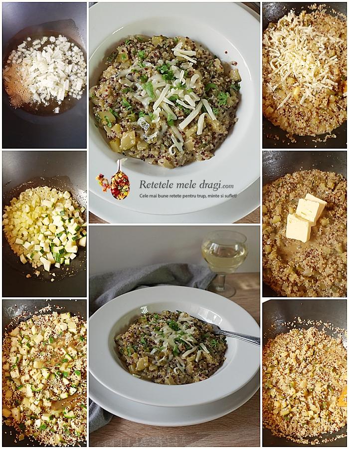 risotto cu quinoa si dovlecel preparare