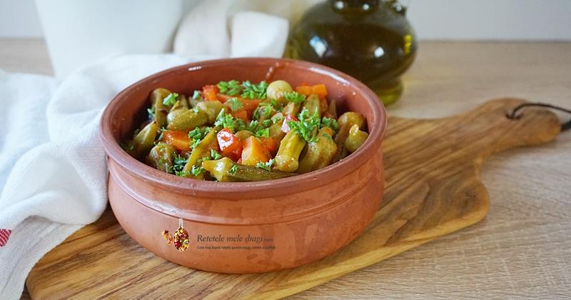 Mancare de bame cu legume la cuptor 0