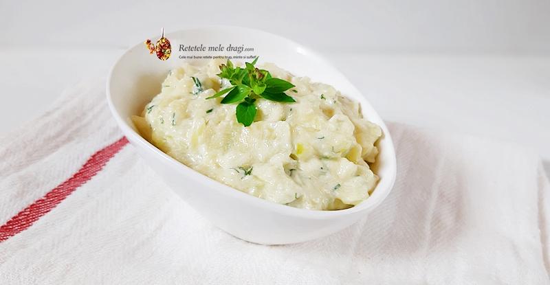 Salata de dovlecei cu iaurt si mustar 3