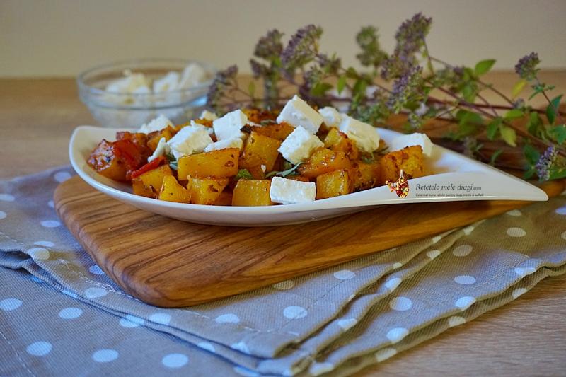 Salata calda de cartofi cu feta 1