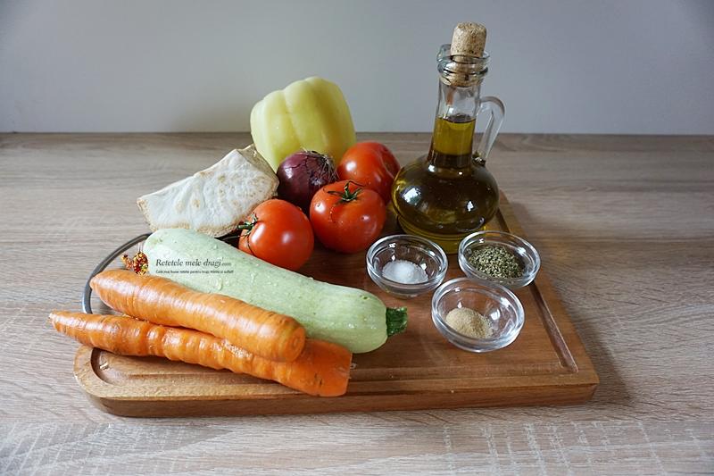 ingrediente pentru supa crema de legume coapte