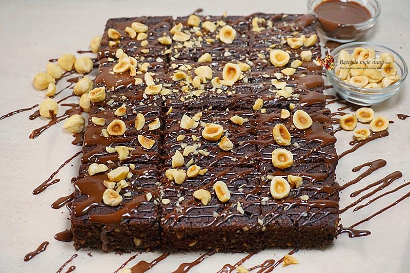 Negresa cu ciocolata si alune 2