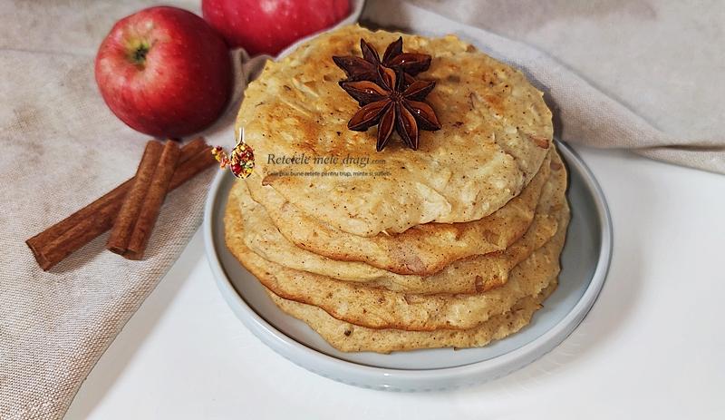 pancakes cu mere la cuptor 1