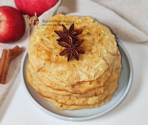 pancakes cu mere la cuptor