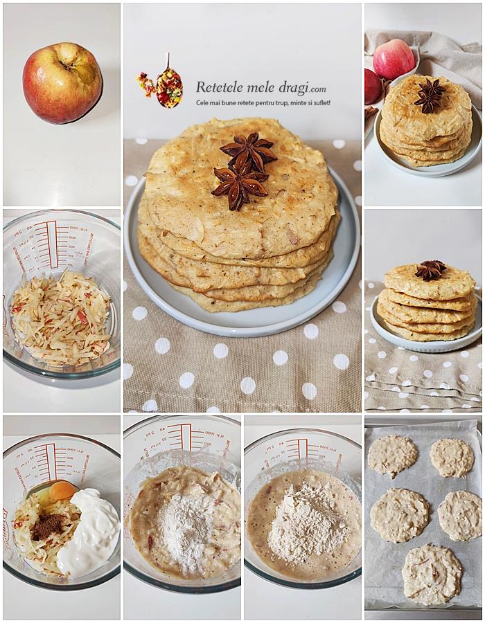 pancakes cu mere la cuptor preparare