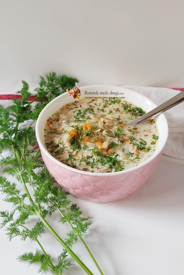 Supa de gulii cu smantana si marar 1