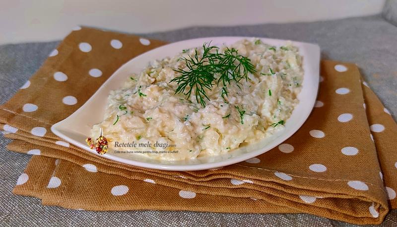 salata de conopida cu iaurt si usturoi 1